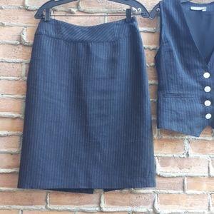 Tristan Linen Blend Pencil Skirt